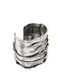 Emanuele Bicocchi | Metallic Sterling Silver Cuff Bracelet for Men | Lyst