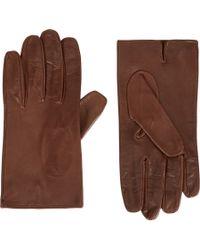 Prada - Brown Nappa Lambskin Gloves for Men - Lyst