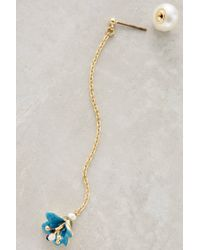 Les Nereides | Blue Chained Lotus Earrings | Lyst