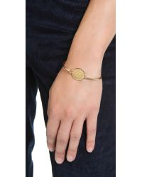 Marc By Marc Jacobs - Metallic Big Logo Hinge Bracelet - Oro - Lyst