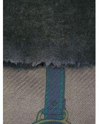 Avant Toi - Gray Horse Bit Print Scarf - Lyst