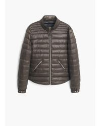 Mango | Gray Side-zip Quilted Coat | Lyst