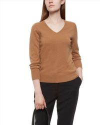 Jaeger - Natural Cashmere V-neck Sweater - Lyst