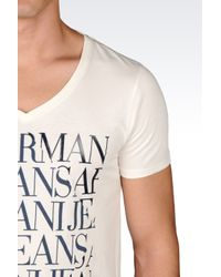 Armani Jeans | Natural Jersey T-shirt for Men | Lyst