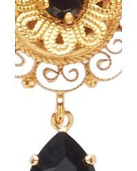 Dolce & Gabbana - Black Dark Crystal Earrings - Lyst