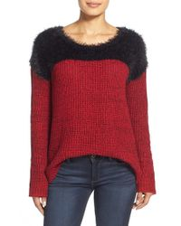 Two By Vince Camuto | Red Marled Pullover Sweater | Lyst