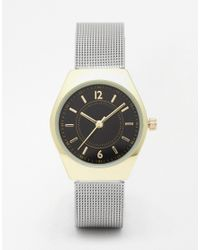 ASOS | Gray Black Face Mesh Watch | Lyst