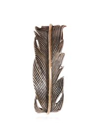 HTC Hollywood Trading Company | Metallic Metal Feather Cuff Bracelet for Men | Lyst