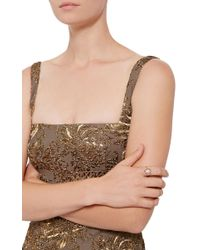 Jordan Alexander - Metallic Mo Exclusive: 18k Rose Gold Diamond And Pearl Slice Ring - Lyst