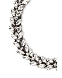 Forever 21 - Metallic Marquise Rhinestone Statement Necklace - Lyst