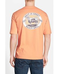 Tommy Bahama - Orange 'meat And Greet' Graphic T-shirt for Men - Lyst