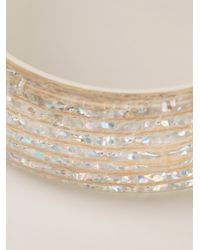 Lanvin - Metallic Transparent Bangle - Lyst