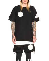 Boris Bidjan Saberi 11 | Black Felted Wool Patches Tee | Lyst