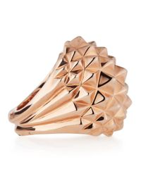 Stephen Webster - Pink Superstud 18k Rose Gold Plated Dome Ring - Lyst