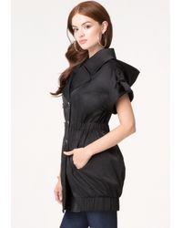 Bebe - Black Sleeveless Trench Coat - Lyst