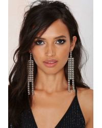 Nasty Gal - Metallic Gimme More Chain Earrings - Lyst