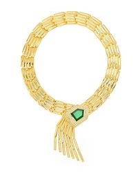 Rachel Zoe | Metallic Gold-plated Deco Fringe Necklace | Lyst