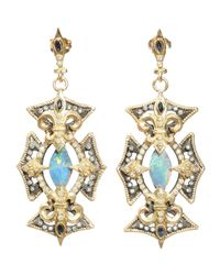 Armenta | Metallic Marquis Cross Opal & Diamond Earrings | Lyst