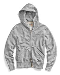 Todd Snyder | Gray Vintage Full Zip Hoodie In Grey Heather for Men | Lyst