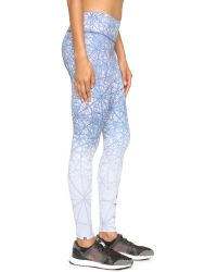 Onzie - Blue Graphic Leggings - Luna - Lyst