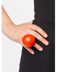 Monies   Red Large Round Ring   Lyst
