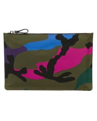 Valentino - Green Camouflage Clutch for Men - Lyst