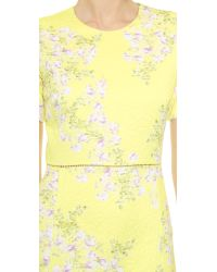 Giambattista Valli - Floral Quilted Dress - Yellow - Lyst