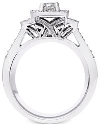 Macy's | Diamond Engagement Ring (1/2 Ct. T.w.) In 14k White Gold | Lyst