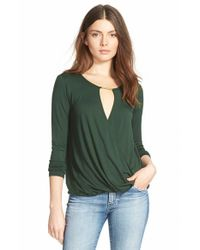 Ella Moss | Green 'Bella' Long Sleeve Top | Lyst