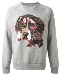 Paul & Joe - Gray Cocker Spaniel Print Sweatshirt for Men - Lyst