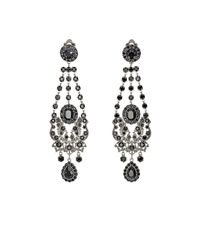 Givenchy | Metallic Gothic Clip-on Chandelier Earrings | Lyst