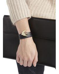 McQ | Black Triple Wrap Leather Bracelet | Lyst