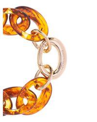 Karen Millen | Metallic Resin Oval Link Bracelet | Lyst