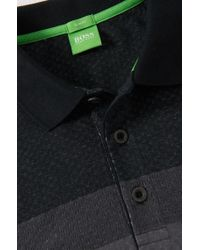 BOSS Green | Black Slim-fit Golf Polo Shirt 'paule 3' In Cotton Blend for Men | Lyst