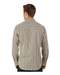Volcom | Natural Everett Mini Check Long Sleeve Woven for Men | Lyst