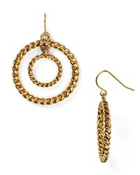 Ralph Lauren - Metallic Lauren Double Hoop Earrings - Lyst