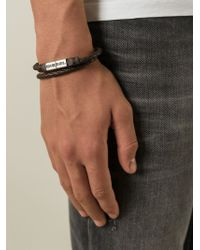 DIESEL - Brown 'Alibys' Bracelet for Men - Lyst
