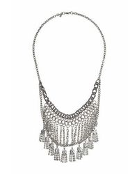 TOPSHOP | Metallic Multi-chain And Rhinestone Necklace | Lyst