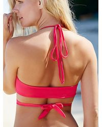 Free People - Pink Wrap Top Emmi Solid Bottoms - Lyst