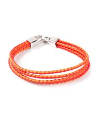 Tateossian | Yellow Braided Bracelet for Men | Lyst