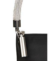 Christopher Kane - Black Leather and Swarovski-Crystal Shoulder Bag - Lyst