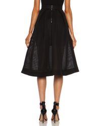 Nicholas - Black Embroidered Mesh Ball Skirt - Lyst