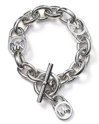 Michael Kors - Metallic Toggle Bracelet - Lyst