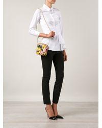 Dolce & Gabbana - Multicolor Glam Floral-Print Shoulder Bag - Lyst