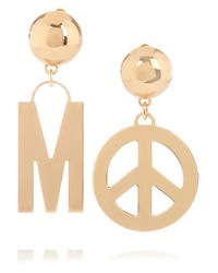Moschino - Metallic Gold-plated Clip Earrings - Lyst