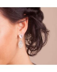 Anna Byers | Metallic Rose Quartz And Silver Earrings | Lyst