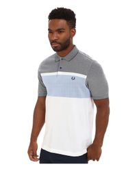 Fred Perry | Blue Oxford Stripe Shirt for Men | Lyst