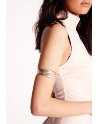 Missguided | Metallic Goddess Leaf Arm Cuff Gold | Lyst