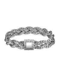 John Hardy | Metallic Braided Silver Bracelet | Lyst