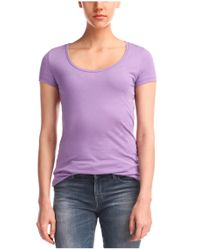 BOSS Orange - Purple T-shirt 'tafame' In Cotton Blend - Lyst